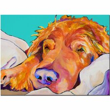 """""""Snoozer King"""" by Pat Saunders-White Painting Print on Canvas"""