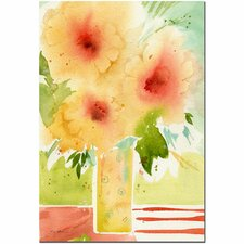 'The Yellow Vase' by Sheila Golden Painting Print on Canvas