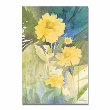 'Sunshine Yellow' by Sheila Golden Painting Print on Canvas