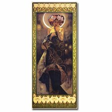 'The Moon' by Alphonse Mucha Vintage Advertisement on Canvas