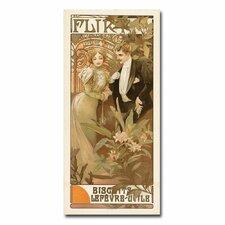 'Flirt' by Alphonse Mucha Vintage Advertisement on Canvas