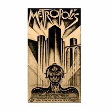 """Metropolis"" Vintage Advertisement on Canvas"