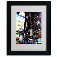 """Time Square Lights"" by Ariane Moshayedi Matted Framed Photographic Print"