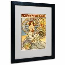 """Monaco-Monte Carlo"" by Alphonse Mucha Framed Painting Print"