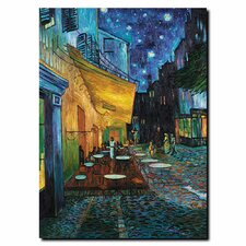 """""""Cafe Terrace"""" by Vincent van Gogh Painting Print on Wrapped Canvas"""