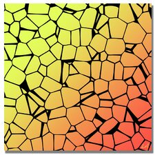 'Crystals of Yellow and Orange' Graphic Art on Canvas