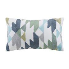 Konya Embroidered Cotton Lumbar Pillow