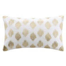 Nadia Dot Embroidered Cotton Lumbar Pillow