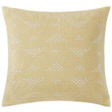 Cario Embroidered Cotton Throw Pillow