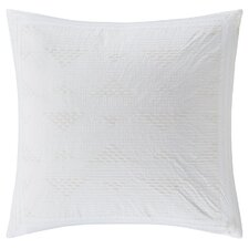 Cario Embroidered Cotton Throw Pillow