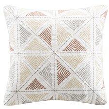 Zelda Embroidered Cotton Throw Pillow