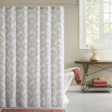 Muriel Cotton Printed Shower Curtain