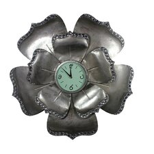 "31"" Flower Shape Metal Wall Clock"