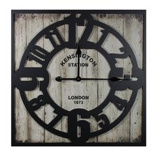 Kensington Station Metal Wall Clock