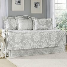 Venetia Gray 5 Piece Daybed Quilt Set in Gray