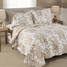 Bedford Reversible Cotton Coverlet in Mocha
