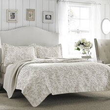 Laura Ashley Riley Reversible Quilt Set