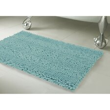 Astor Striped Plush Chenille Bath Mat