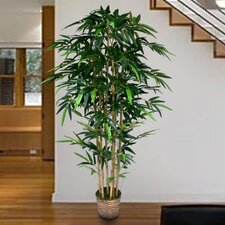 Tall High End Realistic Silk Bamboo Tree in Basket