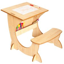 Art Station 3-in-1 Desk, Blackboard and Easel Set