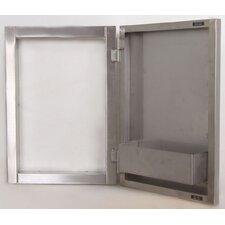Vertical Access Door with Shelves