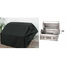 """34"""" Weather-Proof Grill Cover for 4 Burner Grill"""
