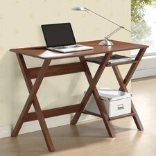 Writing Desk with Side Shelves