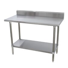 Heavy Duty Height Adjustable Stainless Steel Top Workbench