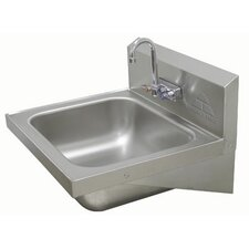 """25"""" x 22"""" Single Wall Mount Hand Sink with Faucet"""