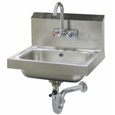 """17.25"""" x 15.25"""" Single Hand Sink with Faucet"""