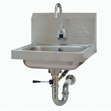 """17.25"""" x 15.25"""" Single Hands Free Hand Sink with Faucet"""