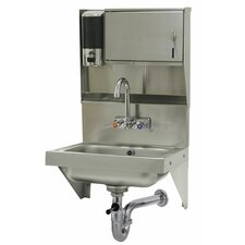 """17.25"""" x 15.25"""" Single Wall Mounted Hand Sink with Faucet"""