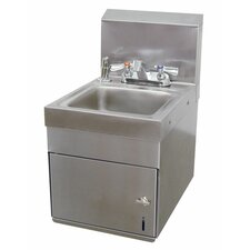 """Space Saver 12"""" x 16"""" Wall Mounted Hand Sink with Faucet"""