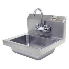 "17"" x 17.25"" Single Hand Wash Sink with Faucet"