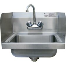"""Economy 17"""" x 15.25"""" Single Wall Mounted Hand Sink with Faucet"""