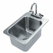 304 Series Single 1 Compartment Drop-in Hand Sink with Faucet