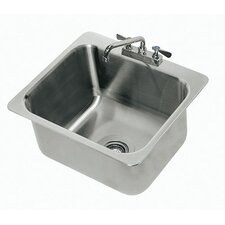 304 Series Single Seamless Bowl 1 Compartment Drop-in Sink with Faucet
