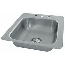 Single Seamless Bowl 1 Compartment Drop-in Hand Sink