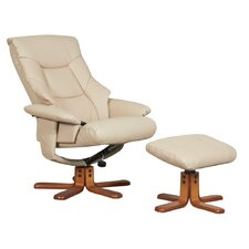 Beijing Swivel Recliner and Footstool
