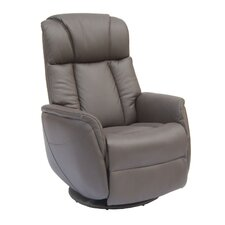 Sorrento Top Grain Leather Electric Rock and Swivel Recliner