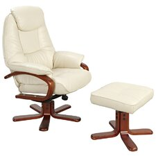 Macau Swivel Recliner and Footstool