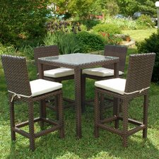 Atlantic 5 Piece Bar Height Dining Set with Cushions