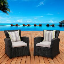 Atlantic Biscayne Arm Chair with Cushions (Set of 2)