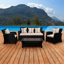 Atlantic Biscayne 4 Piece Deep Seating Group with Cushions