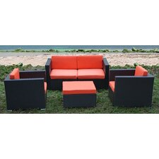 St.Tropez 5 Piece Deep Seating Group with Cushions