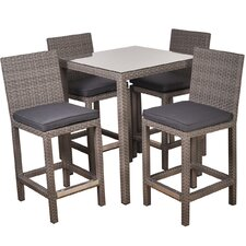 Atlantic Martinique 5 Piece Bar Set with Cushions