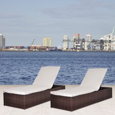 Oxford Chaise Lounge with Cushion (Set of 2)