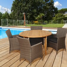 Amazonia Teak 5 Piece Dining Set With Cushions