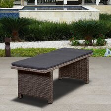 Atlantic Aventura Resin Wicker Garden Bench