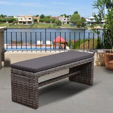 Atlantic Cameron Resin Wicker Garden Bench